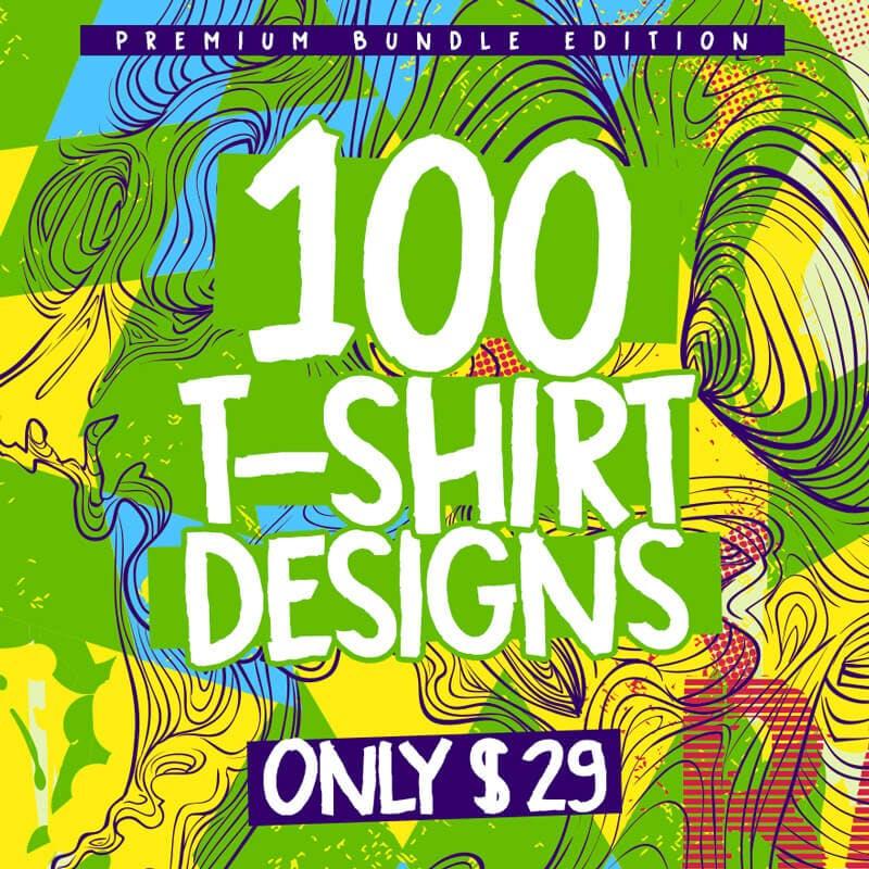 100-Tshirt-Designs-Bundle-Cover