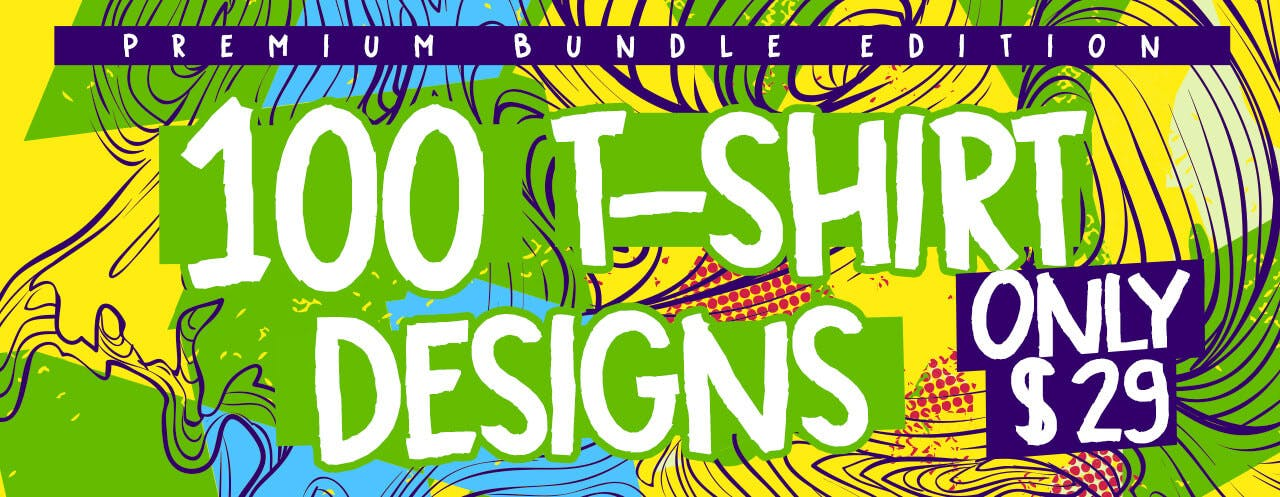 100 Tshirt Designs Bundle Slider Blog TSF