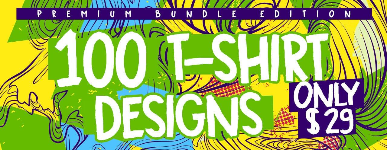 100 Tshirt Designs Bundle Slider Blog TSF