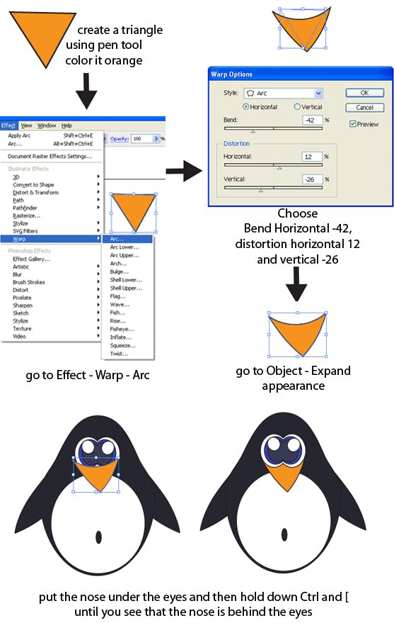 how to create a cute penguin