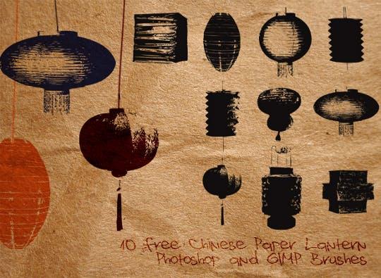 10 ORIENTAL free Photoshop Brushes!