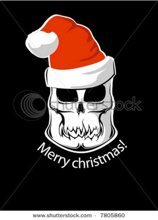 Free Christmas Skull Vectors
