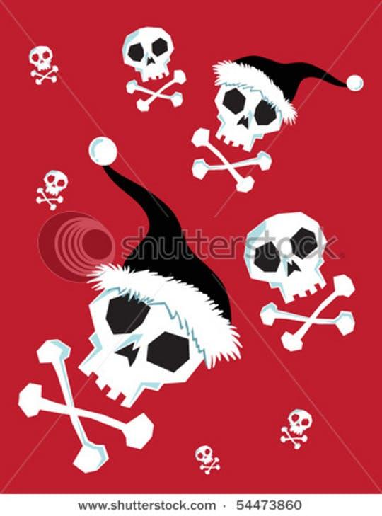 Free Christmas Vectors - skulls !