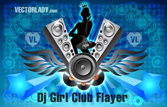 Dj Club Girl Flyier