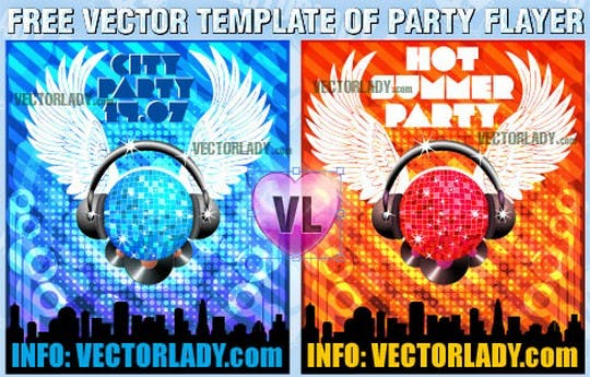 Free Vector Flyer Sample Two colors