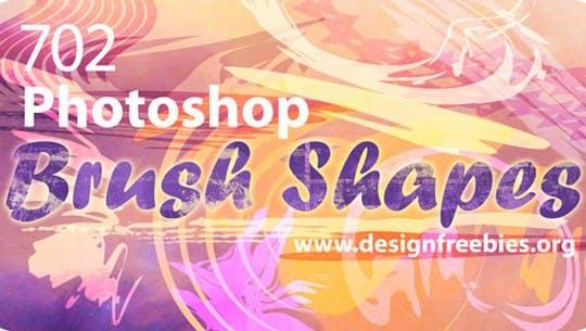 Free Photoshop Brush Vector Shapes
