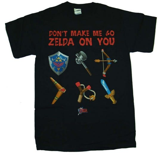Dont make me go zelda on you t-shirt