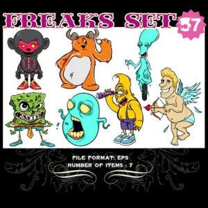 Freaks Vectors Set from TShirt Factory!