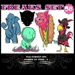 Freaks Vectors Pack from TShirt Factory