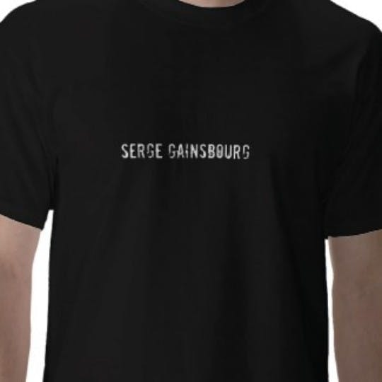 Artist's T shirts, the Serge Gainsbourg edition