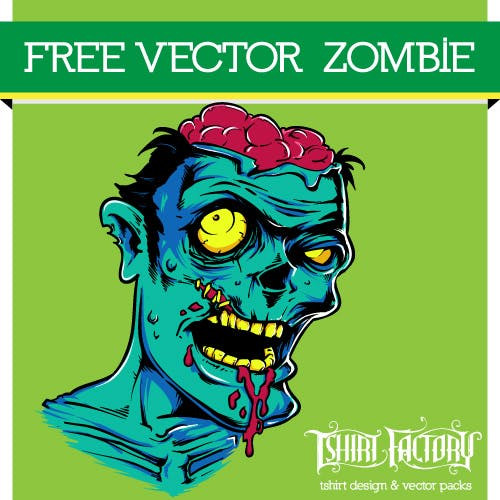 Free Vector Zombie download - T-Shirt Factory !