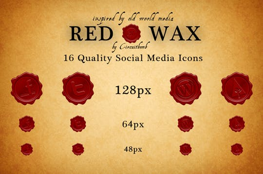 red wax icons