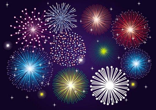 Free fireworks Vectors ! ! !