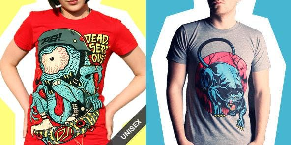 Death Shred impressive t shirt line