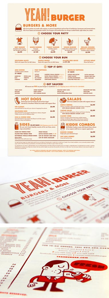 menu print
