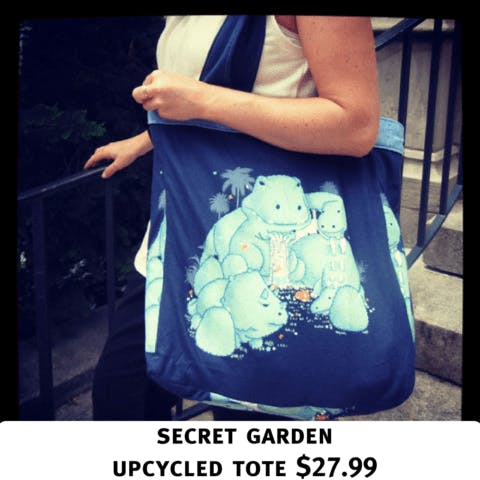 Threadless totes: Threadless turns 40 000 t-shirts into totes !