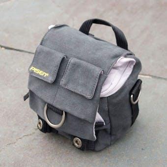 Grey Canvas DSLR Camera Bag by Pisen