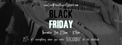 Black Friday sales and discounts - t-shirts and other apparel part 1