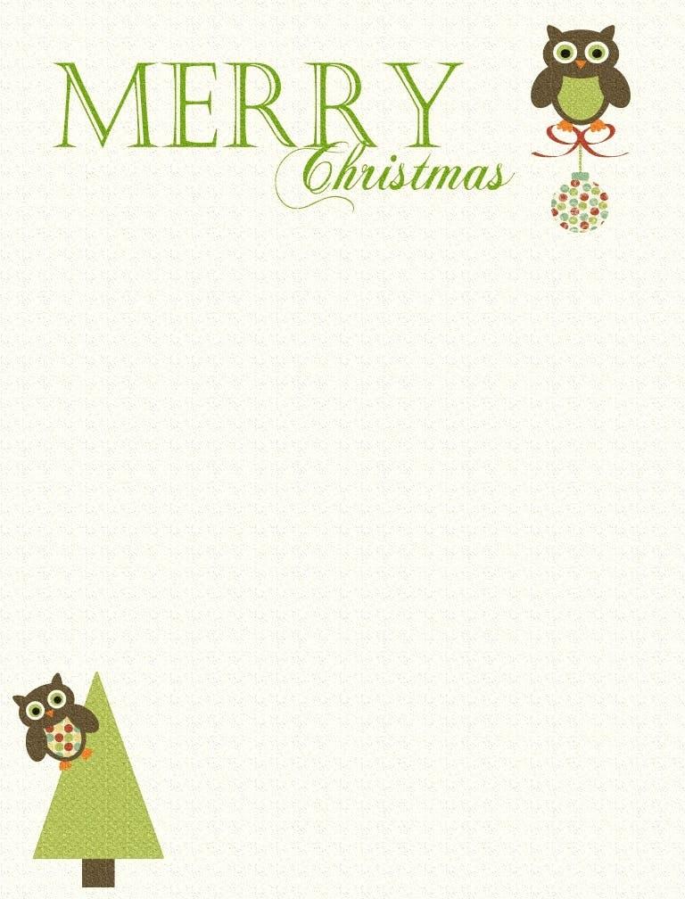 free printable christmas card