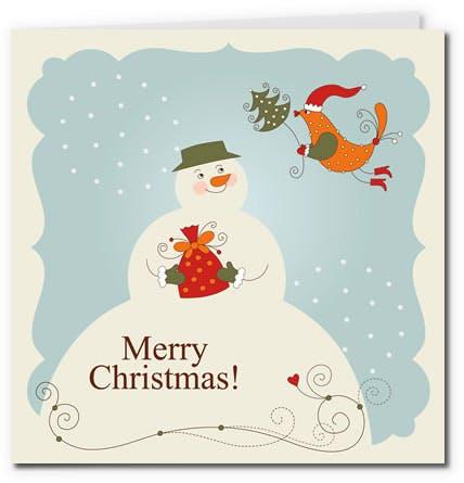 free printable christmas cards snowman