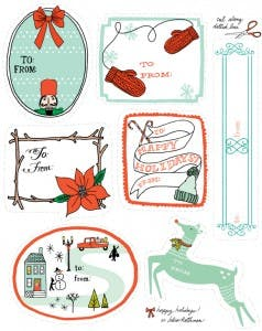 DOWNLOADABLE HOLIDAY TAGS