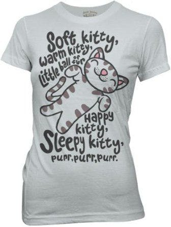 The Big Bang Theory Soft Kitty Warm Kitty