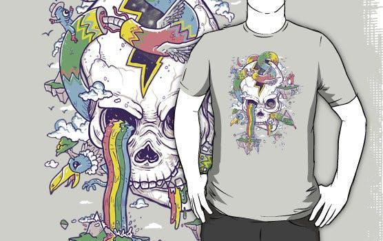 Flying Rainbow skull Island