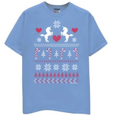 UGLY CHRISTMAS SWEATER UNICORN LOVE