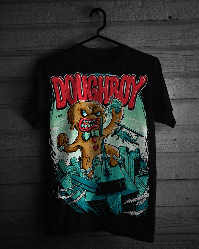 graphic t-shirts DOUGHBOY