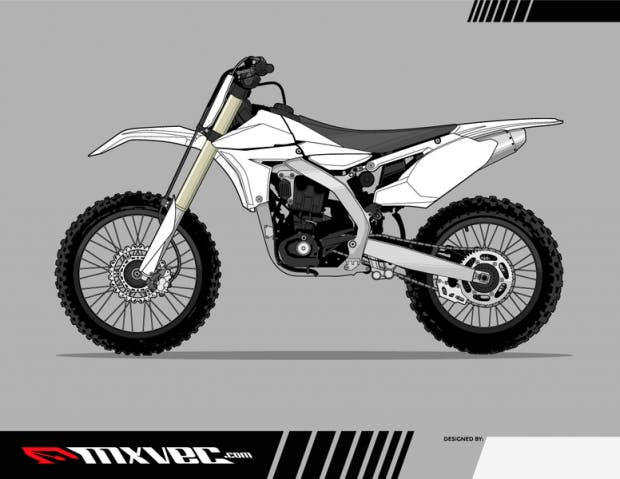 free motocross bike vector