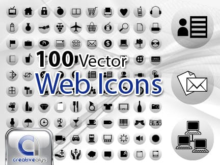 100 Free Vector Web Icons
