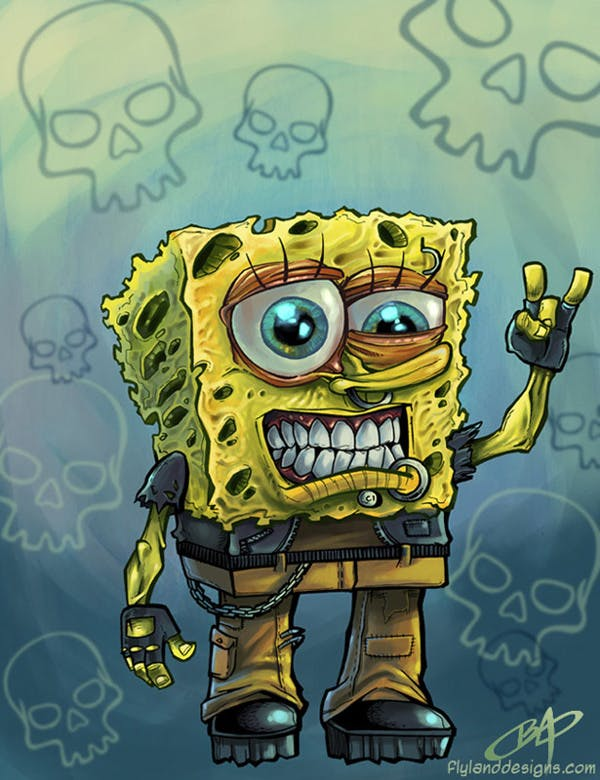 t-shirt design illustrator spongebob