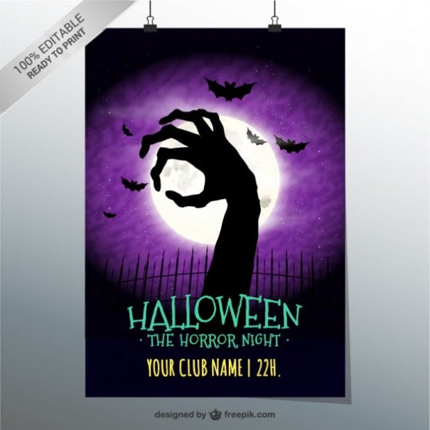 Horror night poster