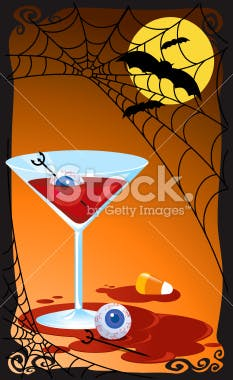 Halloween party wine