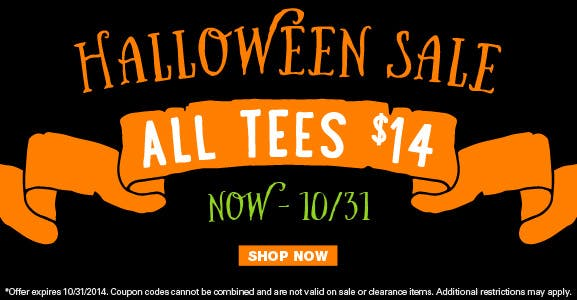 Halloween T-shirt Sale
