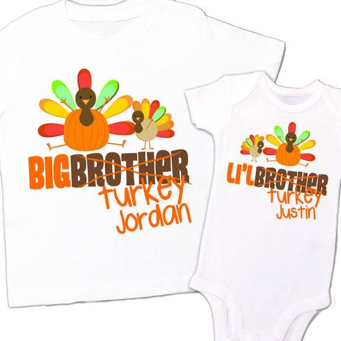 Set of two Thanksgiving Day T-shirts