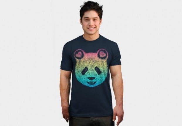 Rainbow panda t-shirts