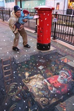 Christmas Graffiti Santa Claus