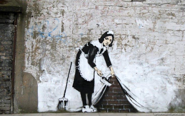 Banksy's art graffiti