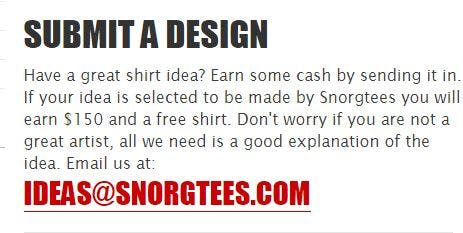 Design ideas by SnorgTees