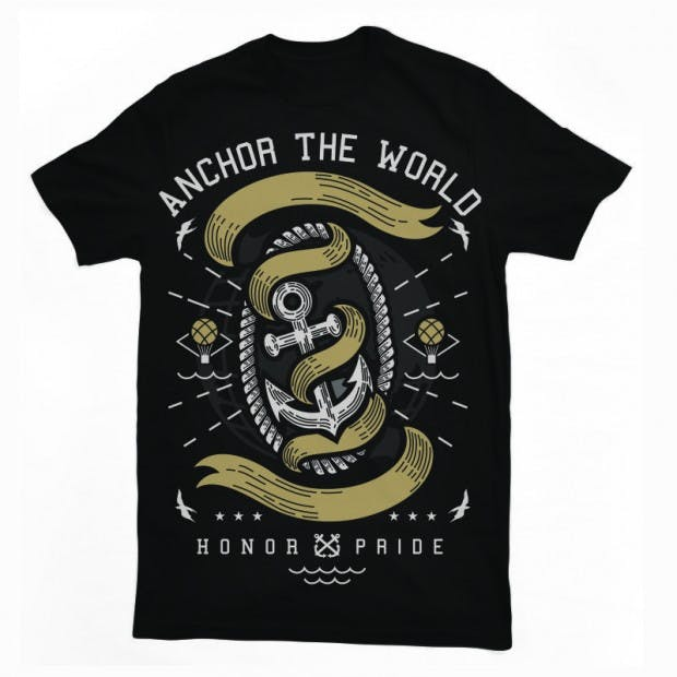 Anchor-The-World-T-shirt-template-14922