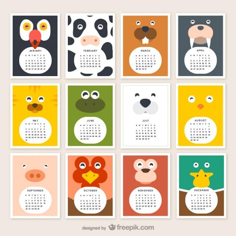 Free vectors- calendars for 2015