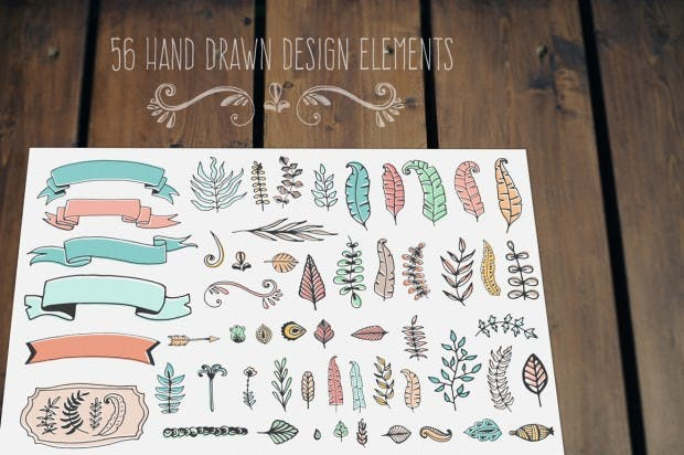 free hand drawn elements