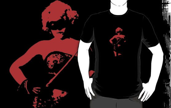 mask red tee
