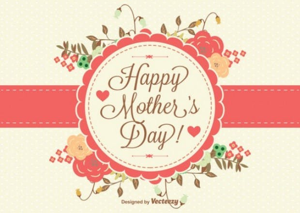 Happy Mother's Day -free editable vector