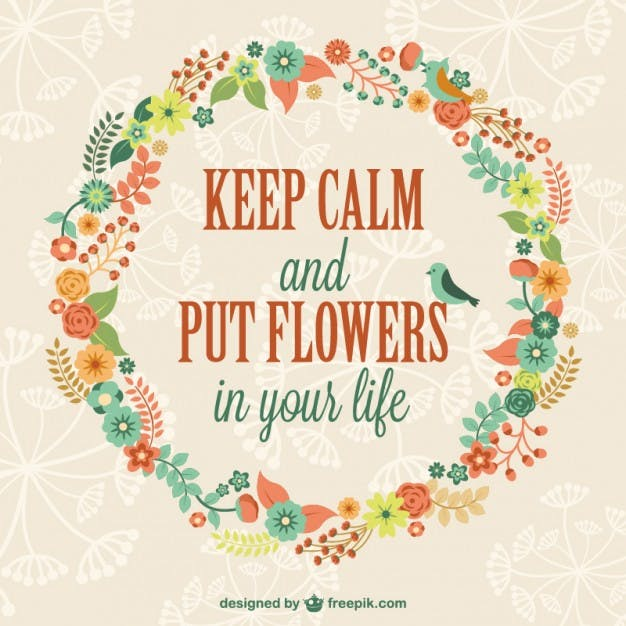keep calm it's spring time