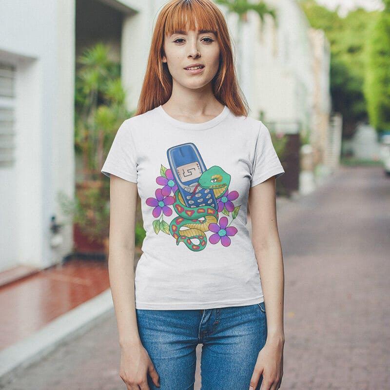 snake nokia game tshirt