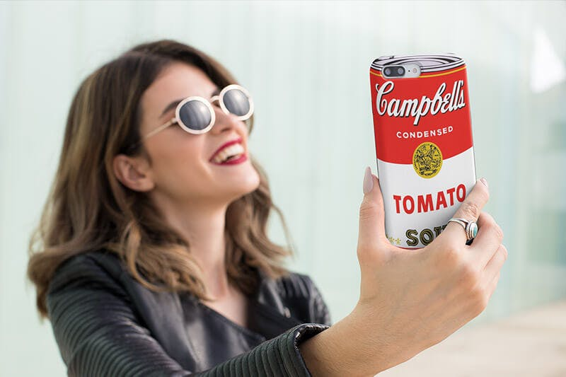 Andy-warhol-campbell's-soup-can-phone-case inspired by red bubble