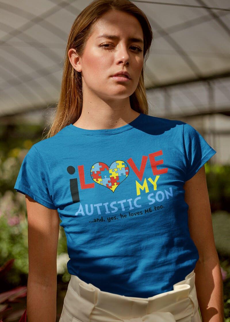autistic son tshirt