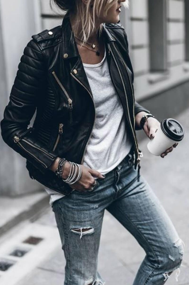 back to school biker outfit